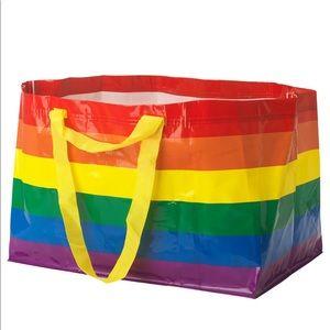 IKEA STORSTOMMA Rainbow Multicolor Pride Bag Large